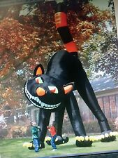 TWO STORY INFLATABLE  BLACK  CAT , Animated , Head Rotates FOR HALLOWEEN   used