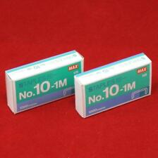 2 - 1000 Count Boxes of Max No 10-1M Staples for HD-10FL Mini Stapler