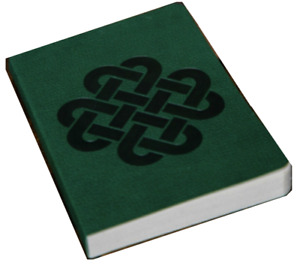 Celtic Cross Green Leatherlook Journal Debossed (Faux Leather)