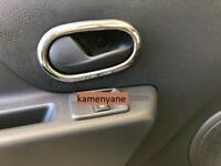 Dacia, Renault Chrome Inner Door Handle Frame Trim cover S.STEEL 4 pcs