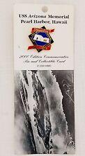 Pin & Card USS Arizona Memorial Pearl Harbor Hawaii, 2000 Edition Commemorative