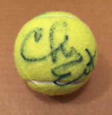 CHRIS EVERT SIGNED AUTOGRAPHED TENNIS BALL VERY RARE TENNIS LEGEND PSA/DNA