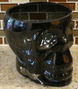 New POTTERY BARN Halloween Gothic Walking Dead SKULL Ice Bucket - Glass