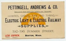 Pettingell, Andrews Co. Boston