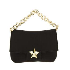 LA FILLE DES FLEURS Neoprene Mini Clutch Handbag Chain Strap Magnetic Flap