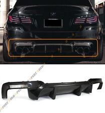 For 11-16 BMW F10 5 Series 535i 528i Carbon Fiber Rear Bumper Diffuser-DTM Style