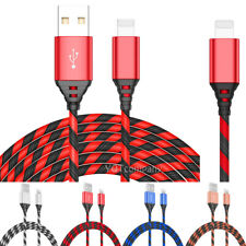 2-Pack Braided Fast Charging Cable Rapid Cord Power Charger for iphone IOS ipad