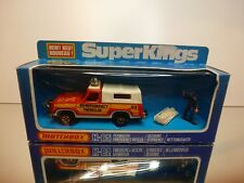 MATCHBOX K-65 PLYMOUTH EMERGENCY RESCUE #23 - RED 1:43 - VERY GOOD IN BOX