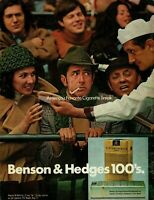 1972 Benson & Hedges 100's Cigarette Hot Dog Vendor Offer Woman Photo Print Ad