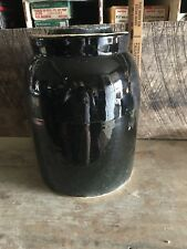 VTG Stoneware Storage Jar With Lid, Crock, Country Primitive