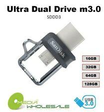 SanDisk ULTRA DUAL USB m3.0 16GB 32GB 64GB 128GB USB OTG Flash Memory Pen Drive