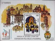 Sellos de España - 1993 EXFINA 93 sello hoja estampillada sin montar o nunca montada Exposición Alcaniz Nacional