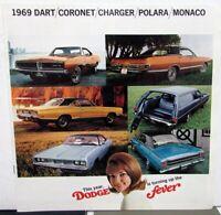 1969 Dodge Dart Coronet Charger Polara Monaco Original Scat Pack Sales Brochure