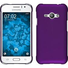 Hardcase Samsung Galaxy J1 ACE rubberized purple Cover + protective foils