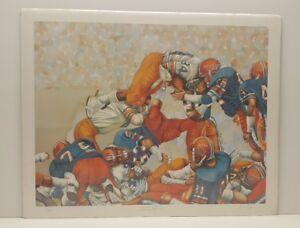 University of Illinois Football LE Lithograph Art Print Mark Reevers
