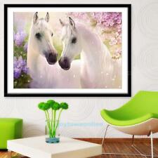 White Horse 5D Diamond Painting DIY Cross Stitch Embroidery Craft Home Art Decor