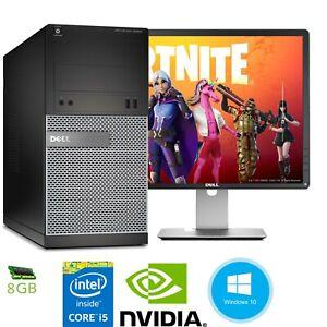Fast Dell Gaming Computer Core i5 4th Gen 8-16GB ram Nvidia Graphics Card 1TB