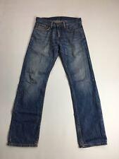 "Levi's 514 Jeans Ajustados Rectos"""" - W32 L32-lavado Descolorido Azul Marino-Excelente Estado"