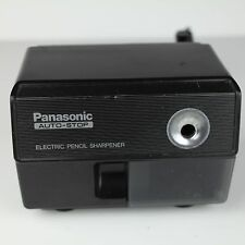 Panasonic Electric Pencil Sharpener KP-110 Japan Suction Feet Auto Stop VTG BLK