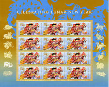 CHINESE NEW YEAR STAMP SHEET - - USA #4623 FOREVER 2012 YEAR OF THE DRAGON