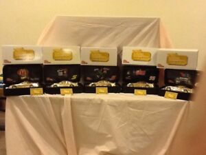 (5) NASCAR STOCK RACE CARS. 24 KT GOLD 1998 50th ANNIVERSARY 1/24See Description