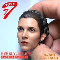 "1/6 Leia Organa Head Snow Princess For 12"" Figure Hot Toys Star Wars ☆USA☆"