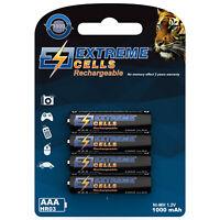 Extremecells 4x Micro AAA Ni-MH Akku aufladbar für Gigaset Telefon S850/S850HX