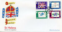 St Helena 2012 FDC Queen's Diamond Jubilee School Art 4v Cover Royalty Stamps