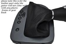 BLACK STITCH FITS SEAT LEON TOLEDO ALTEA 06-11 DSG AUTOMATIC LEATHER GEAR GAITER