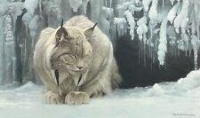 Dozing Lynx by Robert Bateman Fine Art Print - Cat Cougar Wildlife Poster 24x36
