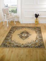 Persian design, 160x220cm. Beige. Lancaster Element rug. Hard wearing, Value.