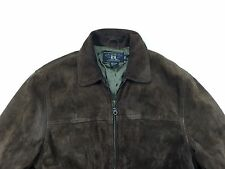 RRL Double RL Ralph Lauren Brown Suede Leather Coat Jacket Sz XS