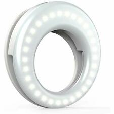 Qiaya OnCamera Video Lights Selfie Ring Led Circle Cell Phone Laptop Photography