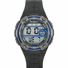 Armitron Men's Black Resin Watch, 100 Meter, Chronograph, 40/8189BLU
