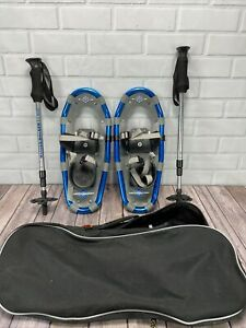 Kids LL Bean Snow Shoes Winter Walker Youth ~ 16 Inches blue boys