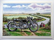 Nostalgic Vincent Rapide Series C Motorbike Design Open Blank Birthday Card