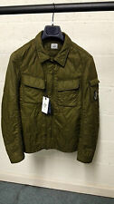 CP Company Garment Dyed Quilted Overshirt Jacket Green BNWT