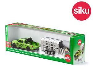 Siku 1998 Dodge Ram 1500 Pick-up Truck + Cattle Trailer + Cow Opening Doors 1:50