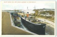 Saint John New Brunswick Canada Ships Dry Dock 1910s  Antique Postcard 25756