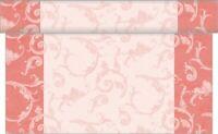 1 Tischläufer Romantic in Rosa aus Linclass® Airlaid 40 cm x 4,80 m - Tischband