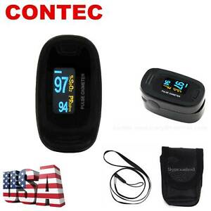 Finger Pulse Oximeter With Case Fingertip Oximetro de pulso de dedo OLED US