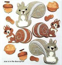 SQUIRRELS & NUTS Jolee's Boutique 3-D Gemstone Stickers - Autumn Squirrel