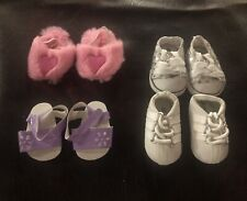 """Shoe Lot NEW Set of 4 Different Shoes Will Fit American Girl or Similar 18"""" Doll"""
