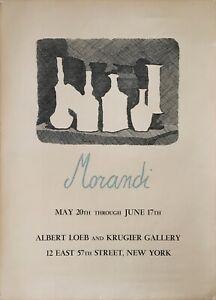 Vintage Giorgio Morandi Exhibition Poster – New York – 1967