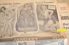 1954 Chicago American Newspaper Browns Champs Pin-Up Marilyn Monroe Gil Elvgren