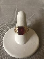 Pink Tourmaline Ring Size 6 14K Yellow Gold