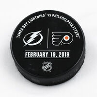 Philadelphia Flyers Issued Unused Warm Up Puck 2/19/19 Vs Tampa Bay Lightning