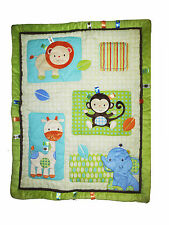 Taggies  Fun in the Jungle Crib Comforter  - Jungle - Monkey - Lion - Giraffe