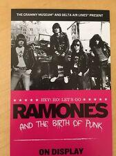 Hey Ho The Ramones grammy museum exhibit los angeles handbill