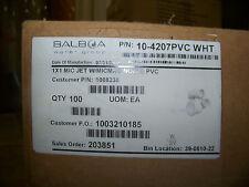 Balboa Water Group 1X1 Mic Jet w/ Micmag Nozzle Pvc 100 ea. # 10-4207Pvc Wht New